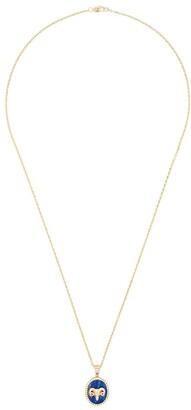 O Thongthai Aries 14kt yellow gold lapis lazuli diamond necklace