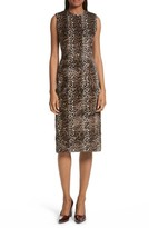 Rachel Comey Women's Sling Cheetah Faux Fur Sheath Dress