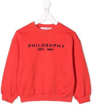 Philosophy di Lorenzo Serafini Kids contrasting logo print sweatshirt