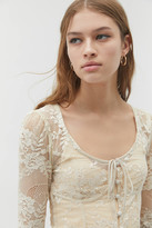 Out From Under Chira Lace Cropped Top