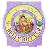 Badger Organic Pregnant Belly Butter - Cocoa Butter & Calendula - 2 oz., Pack of 3