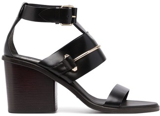 Balenciaga Pre-Owned Metallic Detail Strapped Sandals