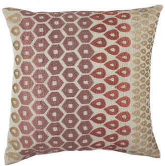 "Entryways Rose & Gold Embroidered Teardrop Throw Pillow - 20""x20"""