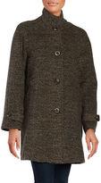 Jones New York Balmacaan Oversized Wool-Blend Coat