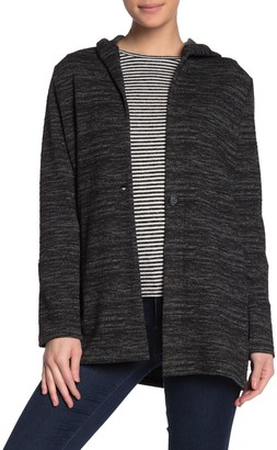 Lucky Brand Hooded Button Front Cardigan