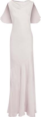 Rachel Zoe Ami Ruffle-trimmed Hammered-satin Gown