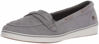Grasshoppers Women's Windham Suede Boat Shoe Gray 5 N US