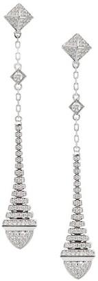 Marli Cleo By Rev 18K White Gold & Diamond Long Drop Earrings
