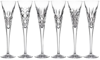 Waterford Toasting Flutes Heritage 6-Piece Glass Flute Set