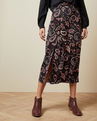 Ted Baker Printed Midi Skirt