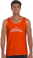 LOS ANGELES POP ART Los Angeles Pop Art Princess Tiara Word Art Tank Top - Men's Big and Tall