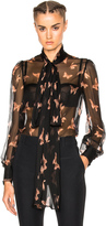 Alexander McQueen Blouse in Black Nude