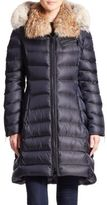 Dawn Levy Bee Fur-Trimmed Puffer Coat