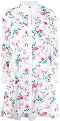 Philosophy di Lorenzo Serafini Rose Print Shirt Dress