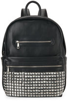 Urban Expressions Black Studded Pocket Backpack