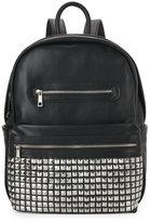 Urban Expressions Black Studded Pocket Backpack