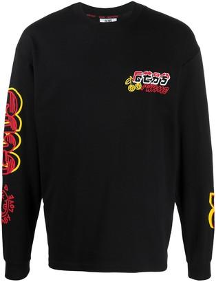 GCDS Graphic-Print Crew Neck Sweatshirt