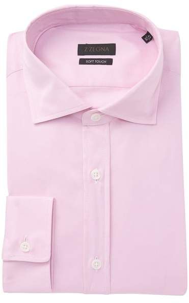 Ermenegildo Zegna Solid Soft Touch Dress Shirt
