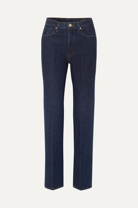 Gold Sign Nineties Classic High-rise Straight-leg Jeans - Dark denim