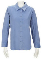Denim & Co. As Is Corduroy Button Front Big Shirt
