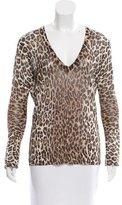 Dolce & Gabbana Cheetah Print V-Neck Top
