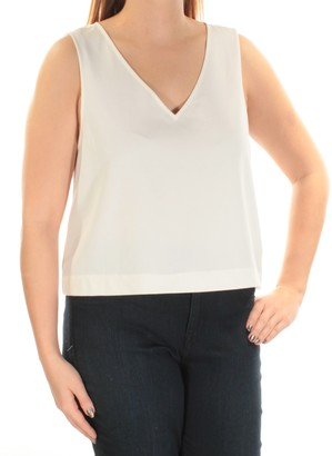 Kensie Women's Stetch Cepe Sleeveless Top