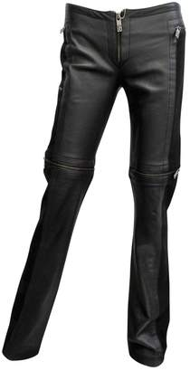 Dirk Bikkembergs Black Leather Trousers