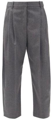 Stella McCartney Dawson Front-pleated Wool-flannel Trousers - Grey