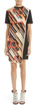 Carven Women's Print Cotton & Silk T-Shirt Dress