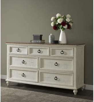 Meryl 7 Drawer Double Dresser Canora Grey Color: Antique White