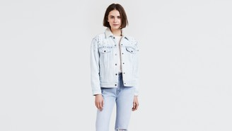 Levi's Ex-Boyfriend Stretch Sherpa Trucker Jacket