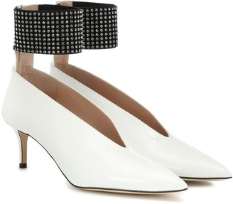 Christopher Kane Embellished patent leather pumps