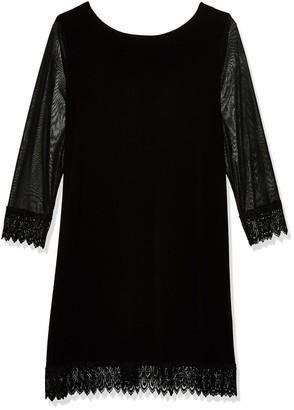 Tiana B T I A N A B. Women's Size Plus Jersey and Chiffon Lace Trim Dress