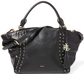 Lauren Ralph Lauren Ashfield Collection Adaline Tasseled Laced Satchel