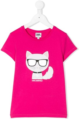 Karl Lagerfeld Paris Choupette graphic print T-shirt