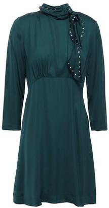 Sandro Embellished Satin Mini Dress