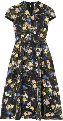 Erdem Henrietta Floral-print Cloque Midi Dress