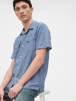 Gap Chambray Worker Shirt in Standard Fit