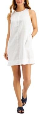 Charter Club Petite Sleeveless Fringe-Hem Dress, Created for Macy's