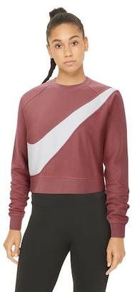 Nike Swoosh Fleece Crew Sweatshirt - Light Redwood / White