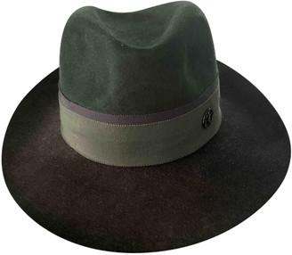 Maison Michel Khaki Wool Hats