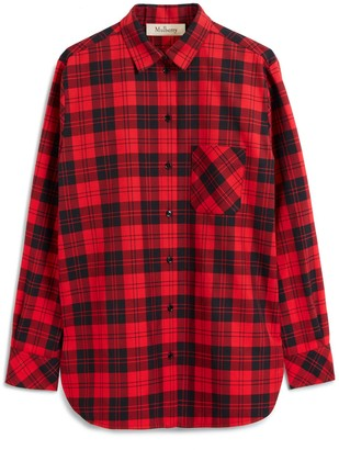 Mulberry Tallulah Shirt Scarlet Tartan Canvas