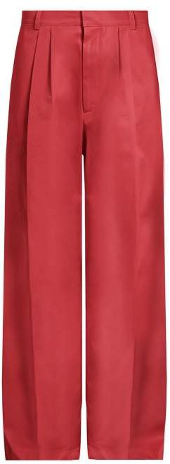 Raey Wide Leg Cotton Chino Trousers - Mens - Pink