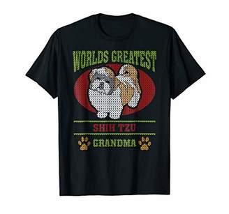 Shih Ugly Christmas Tzu Grandma T-shirt