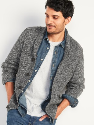 Old Navy Textured Shawl-Collar Cardigan Sweater for Men