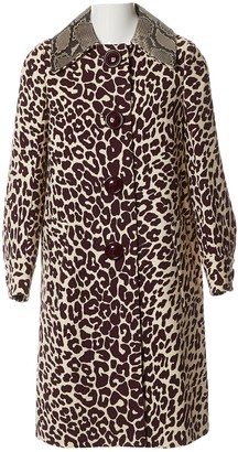 Miu Miu Brown Wool Coat for Women