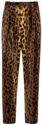 KHAITE Magdeline cheetah-print velvet pants