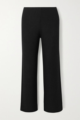 Leset Lori Burnout Brushed Stretch-jersey Track Pants - Black