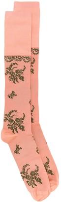 Simone Rocha Floral Jacquard Long Socks