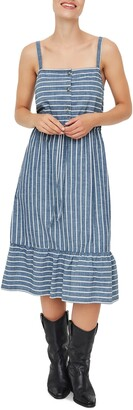 Vero Moda Cary Stripe Chambray Sundress